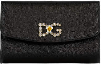 Dolce & Gabbana Black Girl Crossbody Wallet