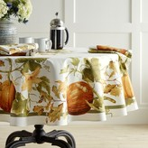 "Williams-Sonoma Williams Sonoma Botanical Pumpkin Tablecloth, 70"" Round"
