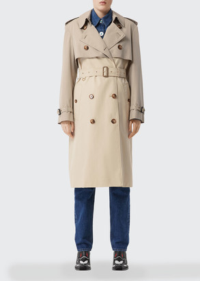 Burberry Gabardine Double-Breasted Trench Coat