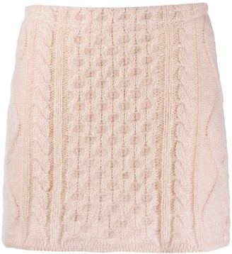 Laneus Cable Knit Mini Skirt