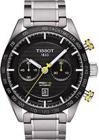 Tissot T1004271105100 Prs 516 Automatic Chronograph Date Bracelet Strap Watch, Silver/black