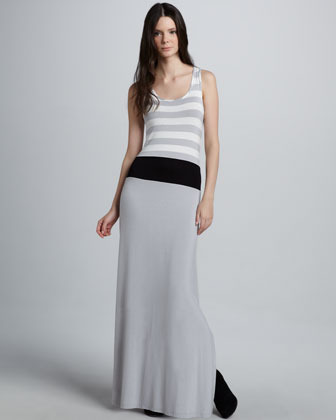 Design History Striped Sleeveless Maxi Dress
