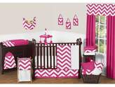 JoJo Designs Sweet Chevron 11-Piece Crib Bedding Set in Pink and White