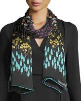 Valentino Flower Rows Silk Shawl