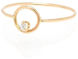 Zoë Chicco 14ct Yellow Gold Small Open Circle Ring