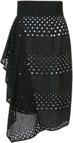 Kimora Lee Simmons eyelet skirt with side ruffle