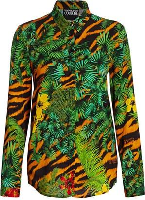 Versace Jungle Print Twill Shirt