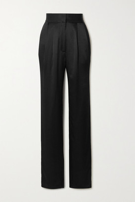 TOVE Remi Silk-crepon Straight-leg Pants - Black