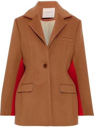 Roksanda Two-tone Wool And Cashmere-blend Felt Coat