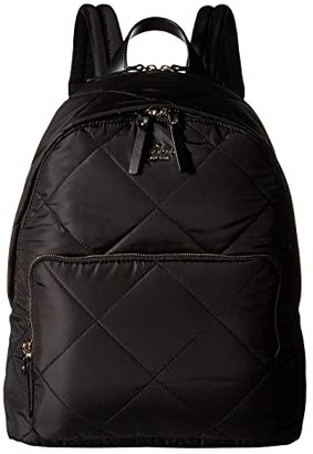Kate Spade 15 in. Quilted Nylon Tech Backpack (Black) Backpack Bags