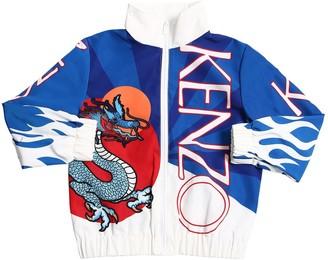 Kenzo Printed Nylon Zip-up Jacket