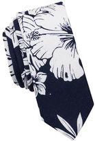 Original Penguin Oceanside Floral Linen-Blend Tie