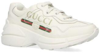 Gucci Kids Logo Stripe Rhyton Sneakers