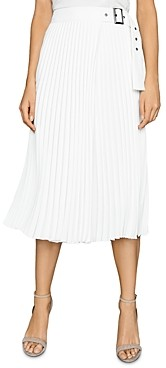 Reiss Arielle Pleated Belted Midi Skirt