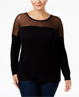 ING Trendy Plus Size Illusion Top