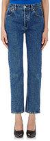 Balenciaga Women's Straight-Leg Crop Jeans-BLUE