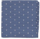 The Tie Bar Light Blue Dotted Hitch Pocket Square