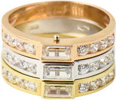 One Kings Lane Vintage Tri-Color Gold & Simulated Diamond Ring