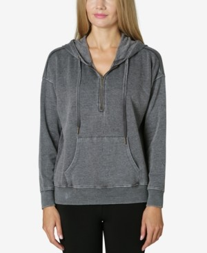 Ultra Flirt Juniors' Oversized Quarter-Zip Hoodie