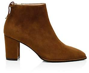 Stuart Weitzman Women's Gardiner Point-Toe Suede Ankle Boots