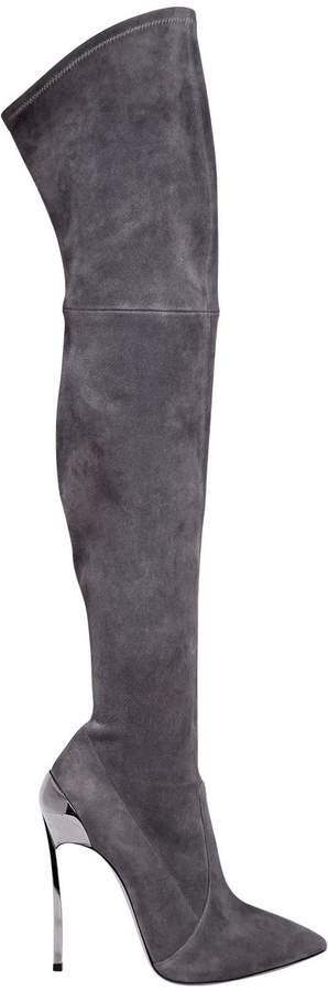 Casadei 120mm Techno Blade Stretch Suede Boots