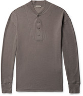 Bottega Veneta - Brushed Cotton And Modal-blend Henley T-shirt