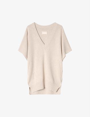 Zadig & Voltaire Indy V-neck cotton-knit jumper