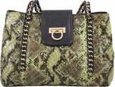 Mellow World Women's Leona Snake-Embossed Chain Shoulder Bag