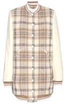 Chloé Wool-blend Bomber Jacket With Leather Sleeves