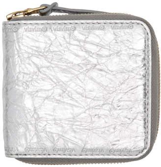 Visvim Silver Folie Zip Wallet