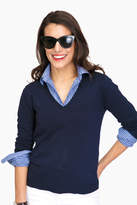 525 America Black Madison V-Neck Sweater