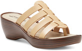 Eastland Women's Sandals BEIGE - Beige Topaz Leather Heeled Sandal - Women