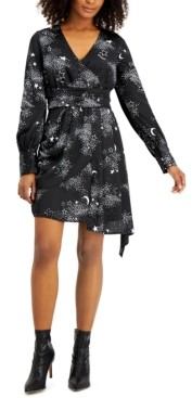 Bar III Star-Print Asymmetrical Dress, Created for Macy's