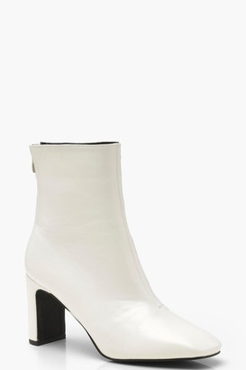 boohoo Low Heel Ankle Shoe Boots
