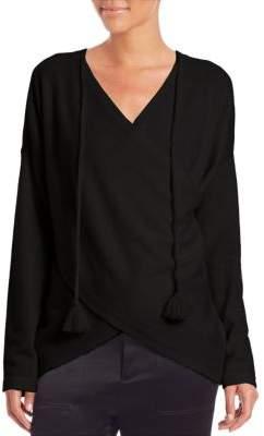 Derek Lam 10 Crosby Cross-Front Cashmere Sweater