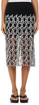 Dries Van Noten Women's Sloane Embroidered Midi-Skirt-Silver