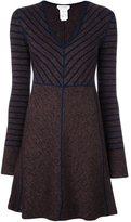 See by Chloe striped knitted dress - women - Wool - M