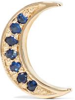 Andrea Fohrman Mini Crescent 14-karat Gold Sapphire Earring - one size