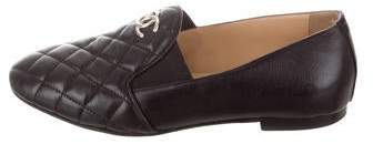 Chanel CC Quilted Leather Loafers