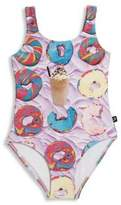 Terez Toddler's & Little Girl's One-Piece Snack Swimsuit