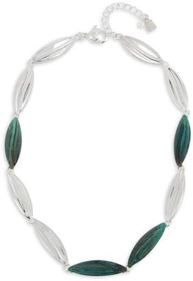 Robert Lee Morris Soho Silvertone Leaf Collar Necklace