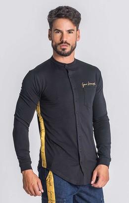 Gianni Kavanagh Men's Black Noble Signature Shirt Button XL