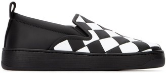 Bottega Veneta Woven Detail Slip-On Sneakers
