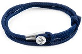 Anchor & Crew Navy Blue Dundee Silver & Rope Bracelet