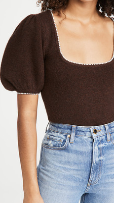 JoosTricot Poofy Sleeve Top
