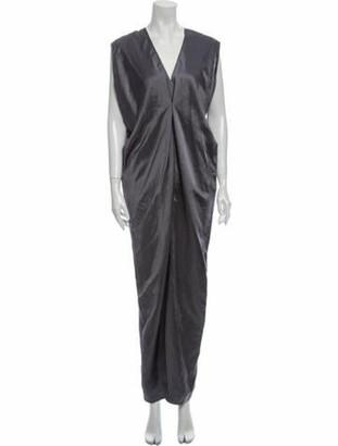 Zero Maria Cornejo Linen Long Dress Grey
