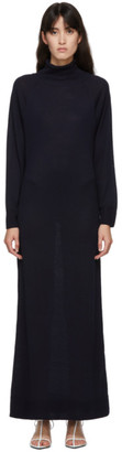 LE 17 SEPTEMBRE LE17SEPTEMBRE Navy Knit High-Neck Long Dress