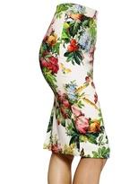 Dolce & Gabbana Printed Silk Charmeuse Skirt