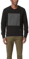 Rag & Bone Rowing Stripe Applique Sweatshirt