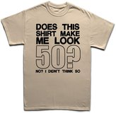 Customised Perfection Does This Make Me Look 50 - 50th Birthday Gift T Shirt 3XL